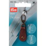 Prym Fashion Zipper Leder braun